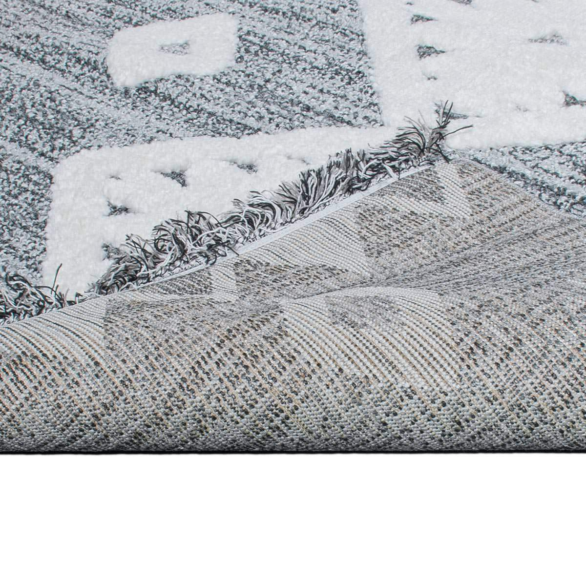 Atlas Rug 07 Grey Runner - Fringes 4