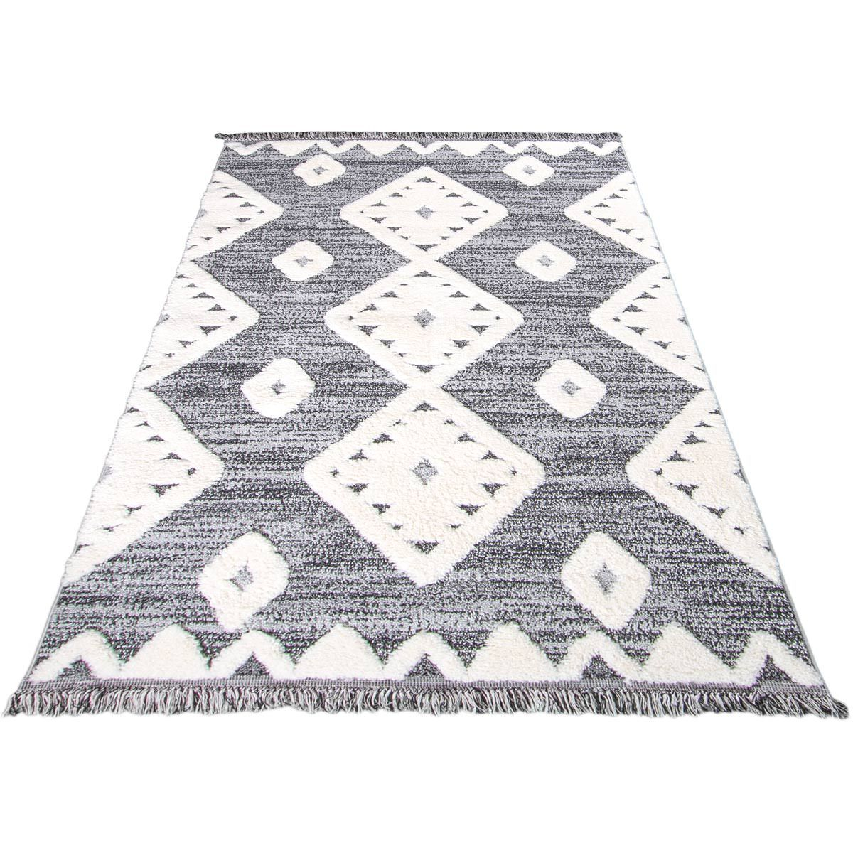 Atlas Rug 07 Grey - Fringes 8