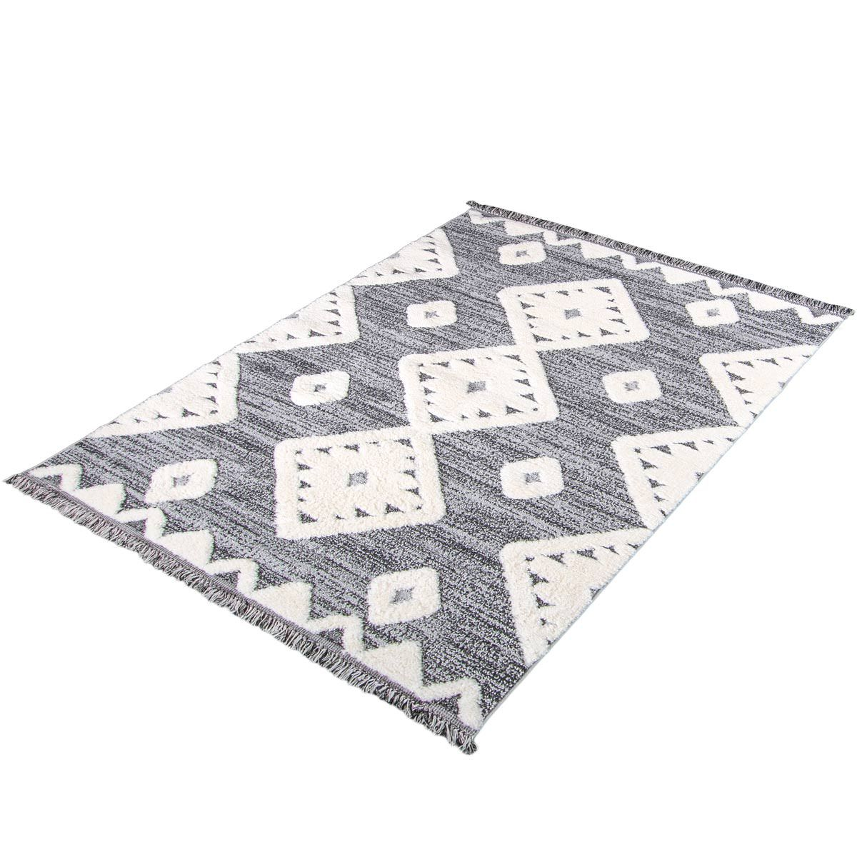 Atlas Rug 07 Grey - Fringes 9