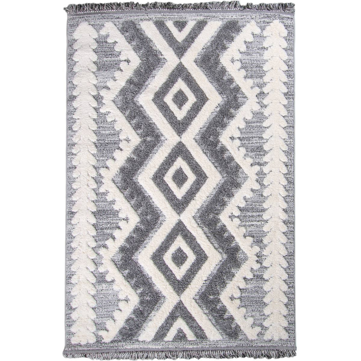 Atlas Rug 08 Grey Runner - Fringes 1