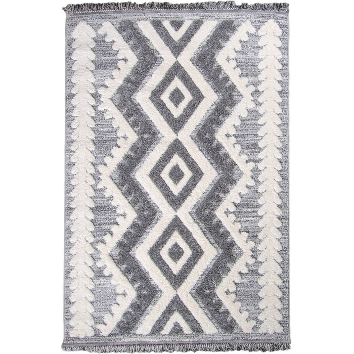 Atlas Rug 08 Grey - Fringes
