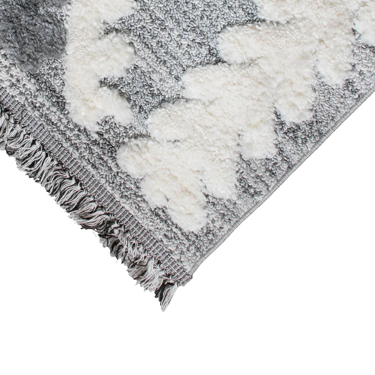 Atlas Rug 08 Grey Runner - Fringes 2