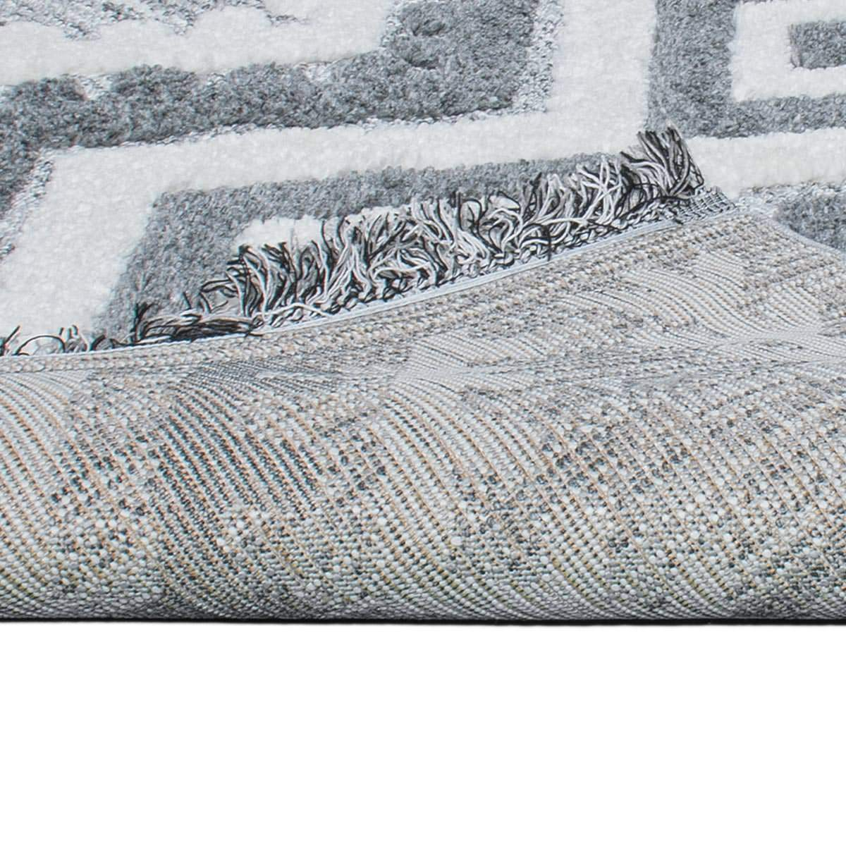 Atlas Rug 08 Grey Runner - Fringes 4