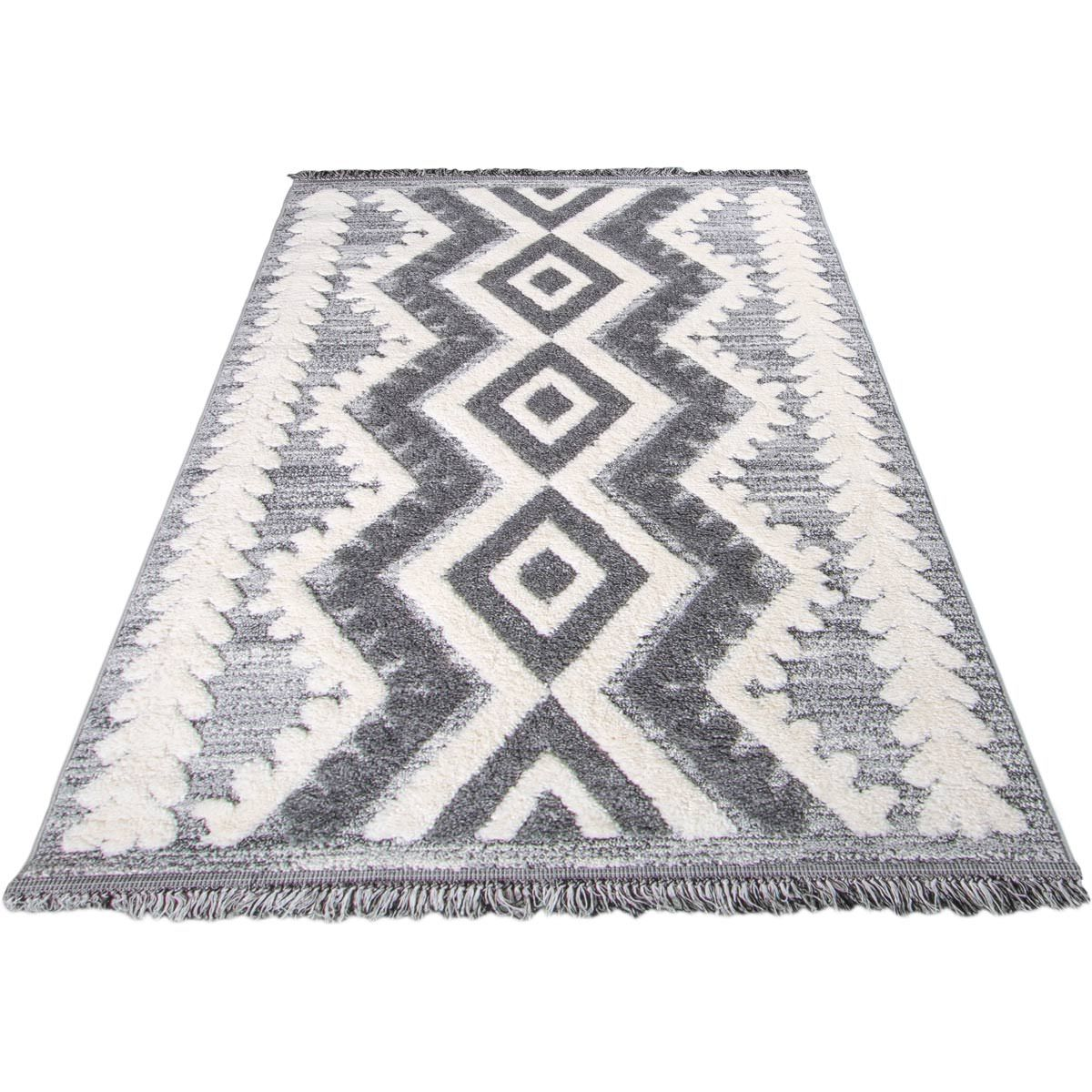 Atlas Rug 08 Grey - Fringes 6