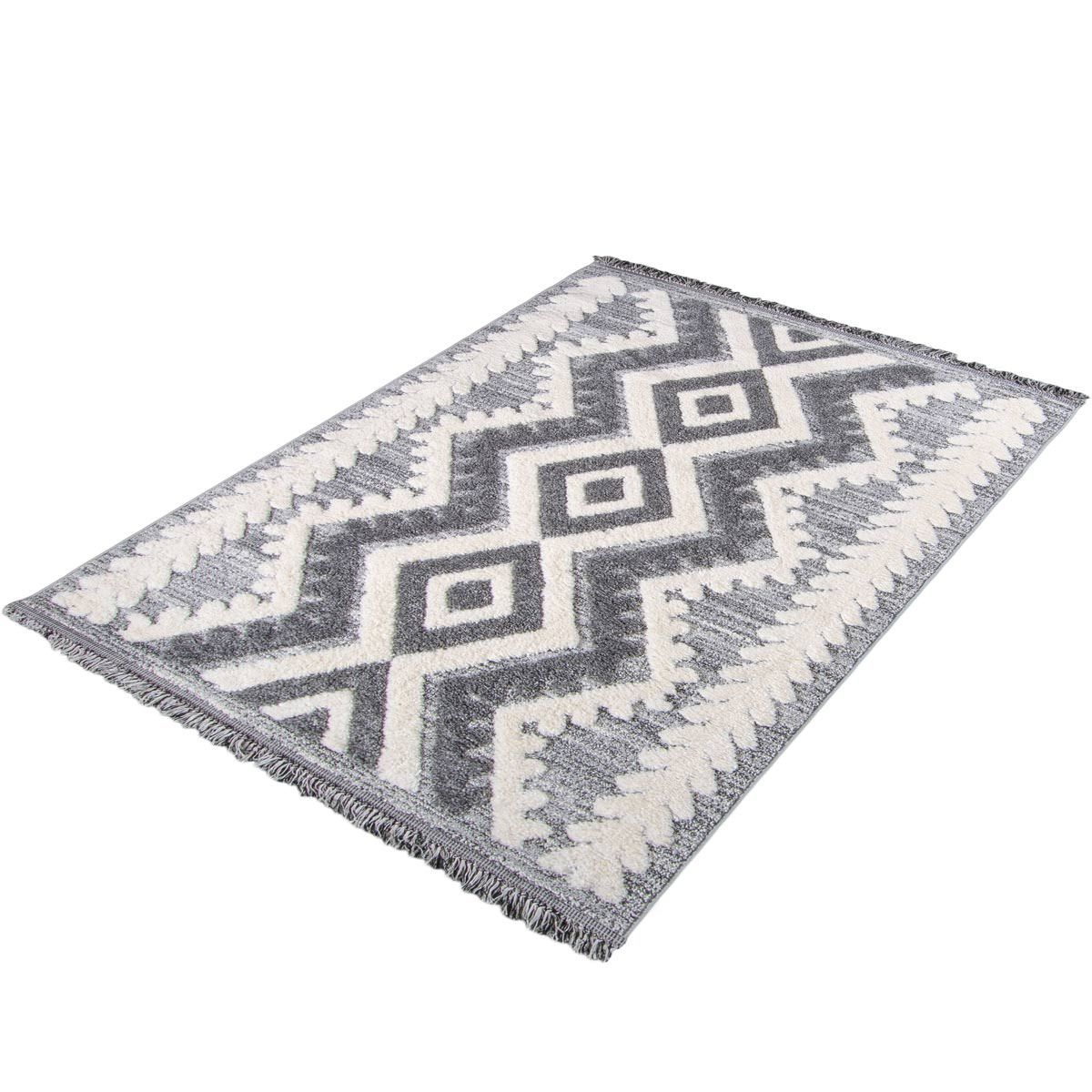 Atlas Rug 08 Grey - Fringes 7
