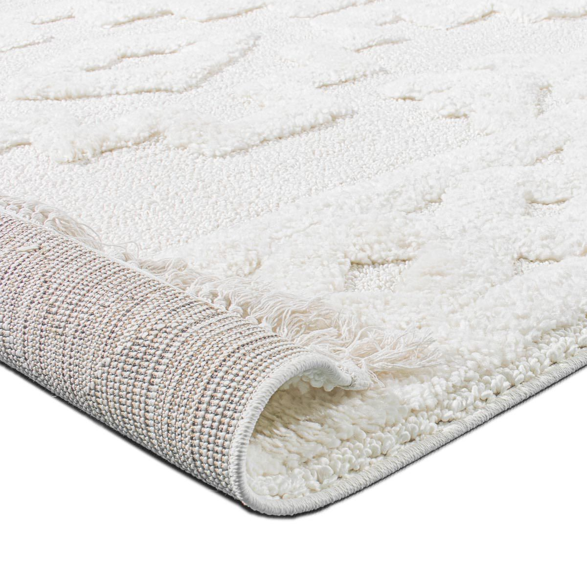 Atlas Rug 10 Cream Runner - Fringes 6