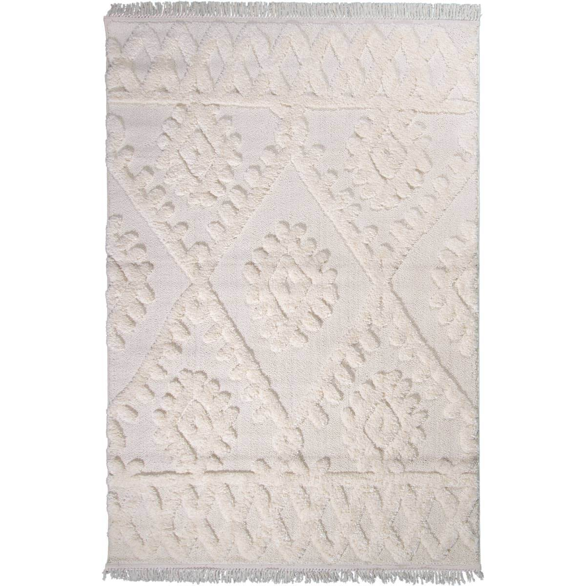 Atlas Rug 11 Cream - Fringes 1