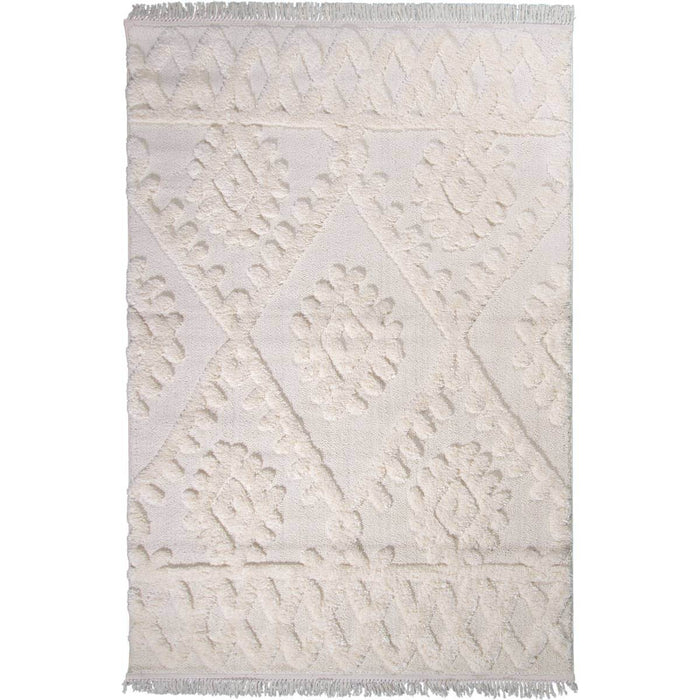 Atlas Rug 11 Cream Runner - Fringes