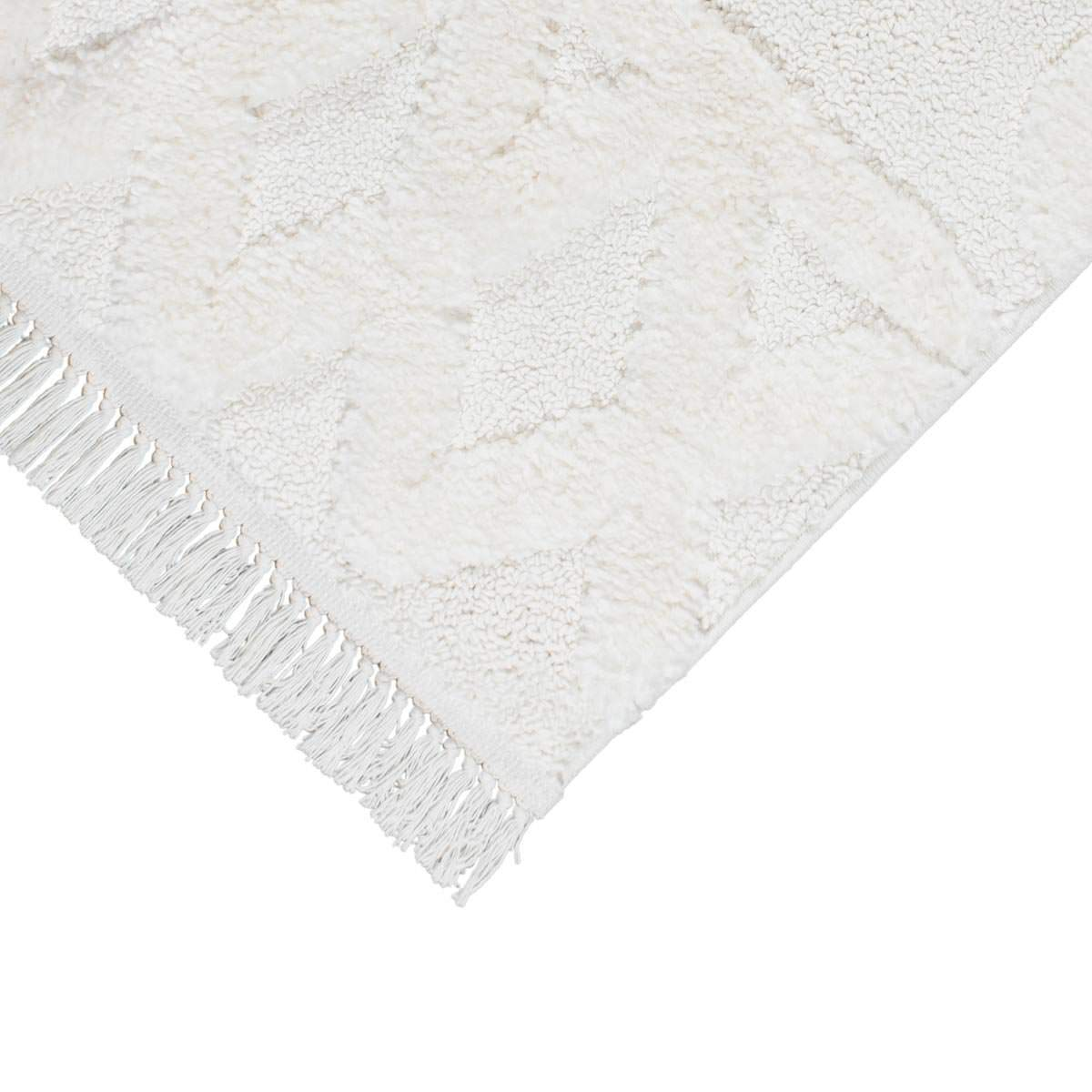 Atlas Rug 11 Cream Runner - Fringes 3