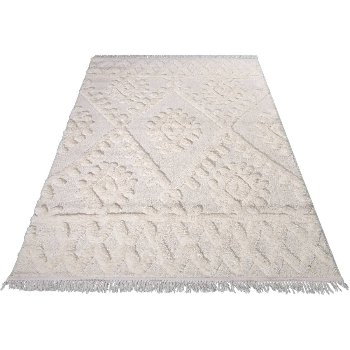 Atlas Rug 11 Cream - Fringes 7