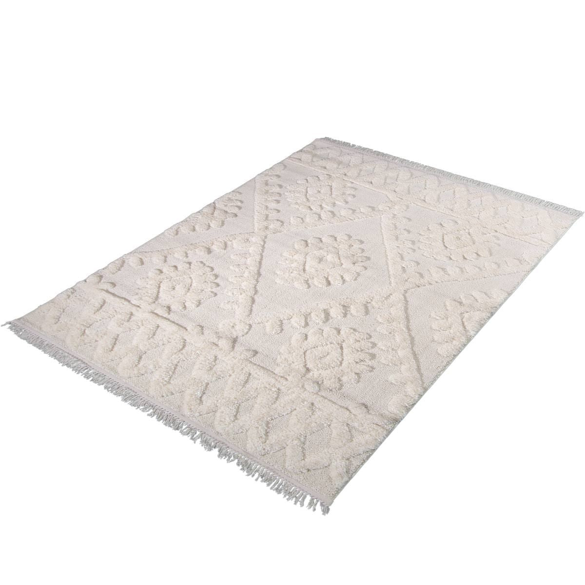 Atlas Rug 11 Cream - Fringes 8