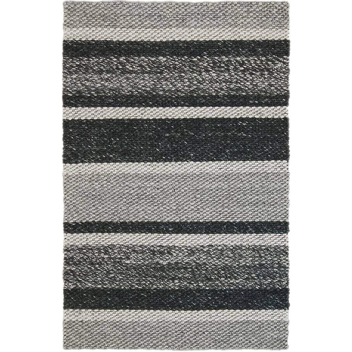 Braided Jute Rug 02 Grey/Black 1