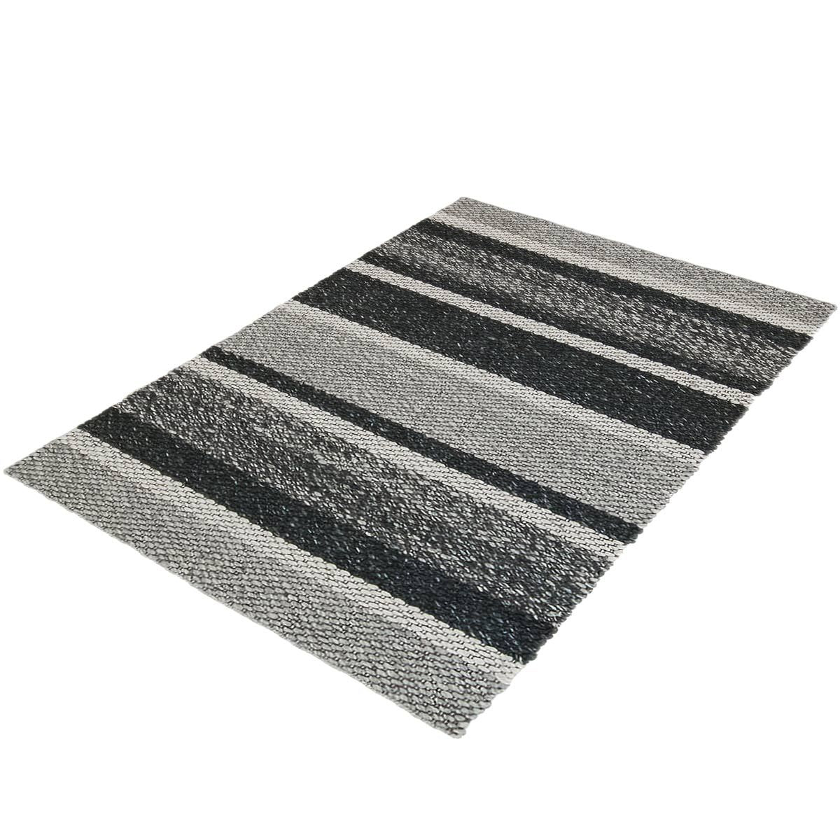 Braided Jute Rug 02 Grey/Black 3