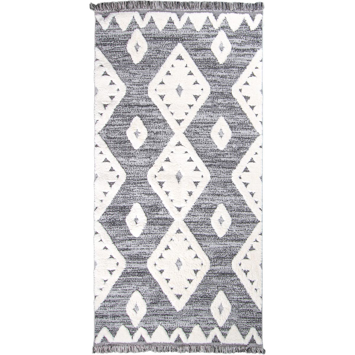 Atlas Rug 07 Grey Runner - Fringes 1