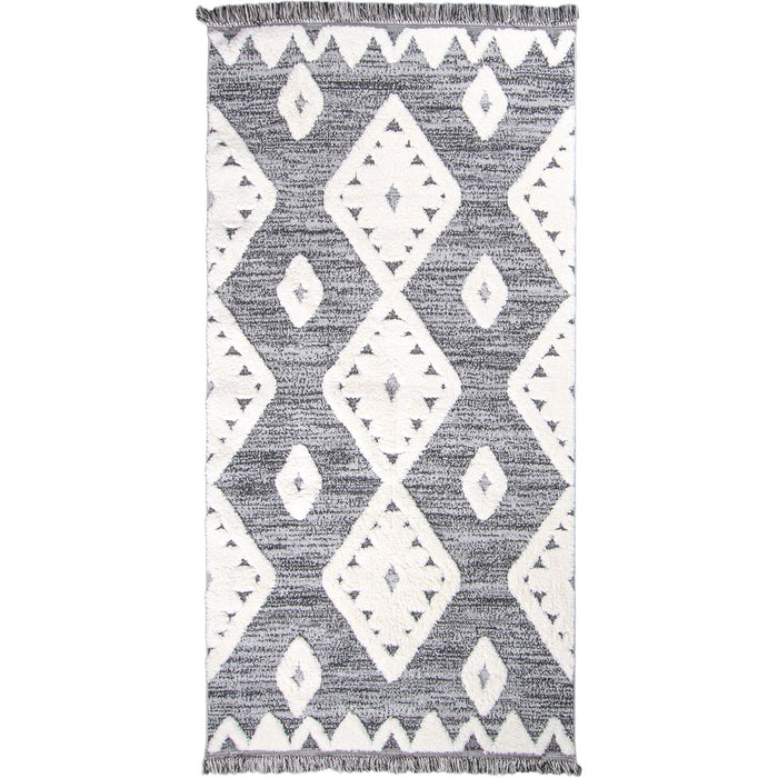 Atlas Rug 07 Grey Runner - Fringes