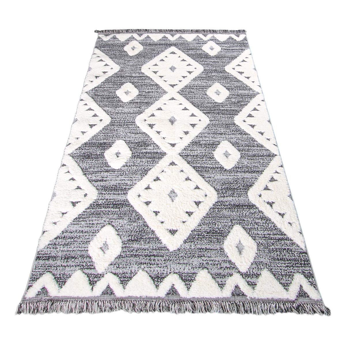 Atlas Rug 07 Grey Runner - Fringes 2