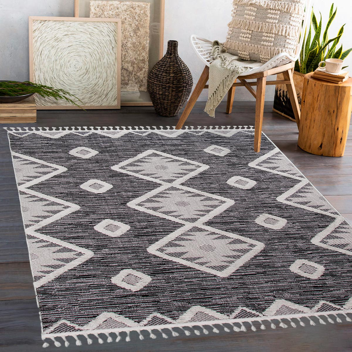 Atlas Rug 04 Dark Grey 2