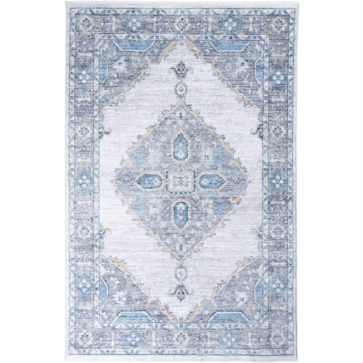 Istanbul Rug 08 Light Grey/Yellow 1