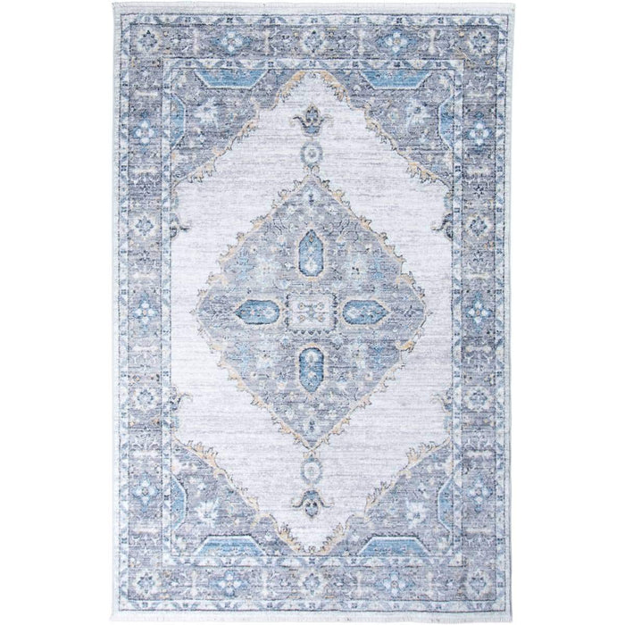 Istanbul Rug 08 Light Grey/Yellow