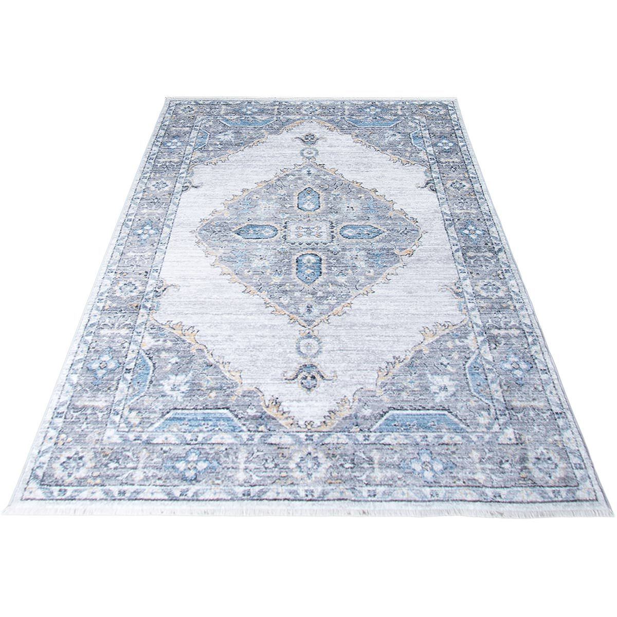 Istanbul Rug 08 Light Grey/Yellow 6