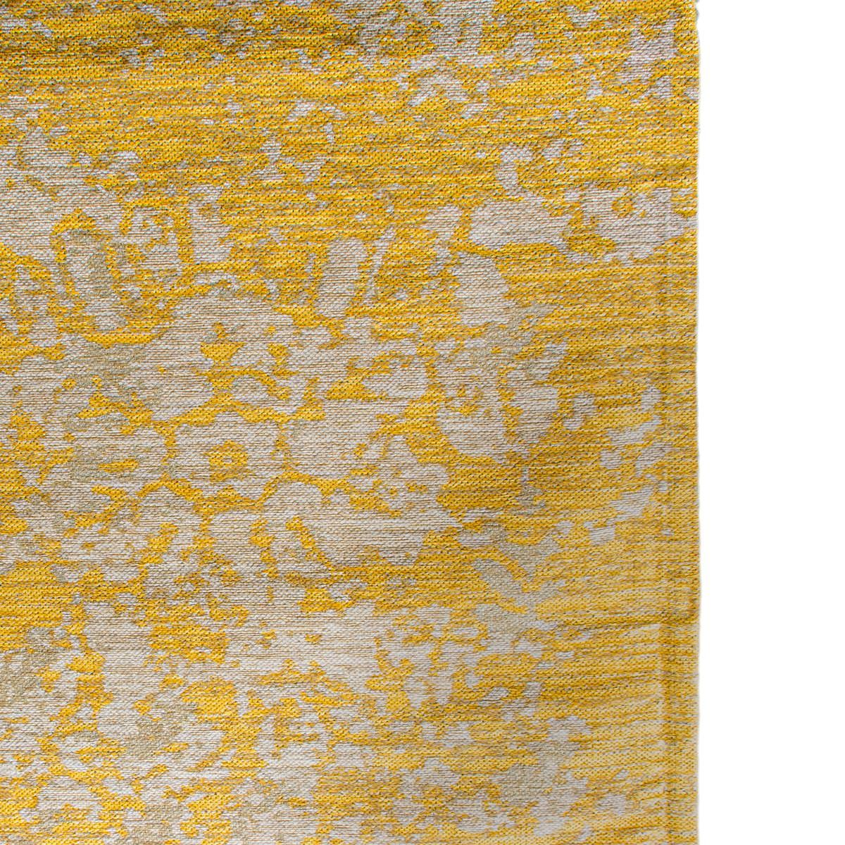 Marseille Rug 29 Yellow/Grey Round 4