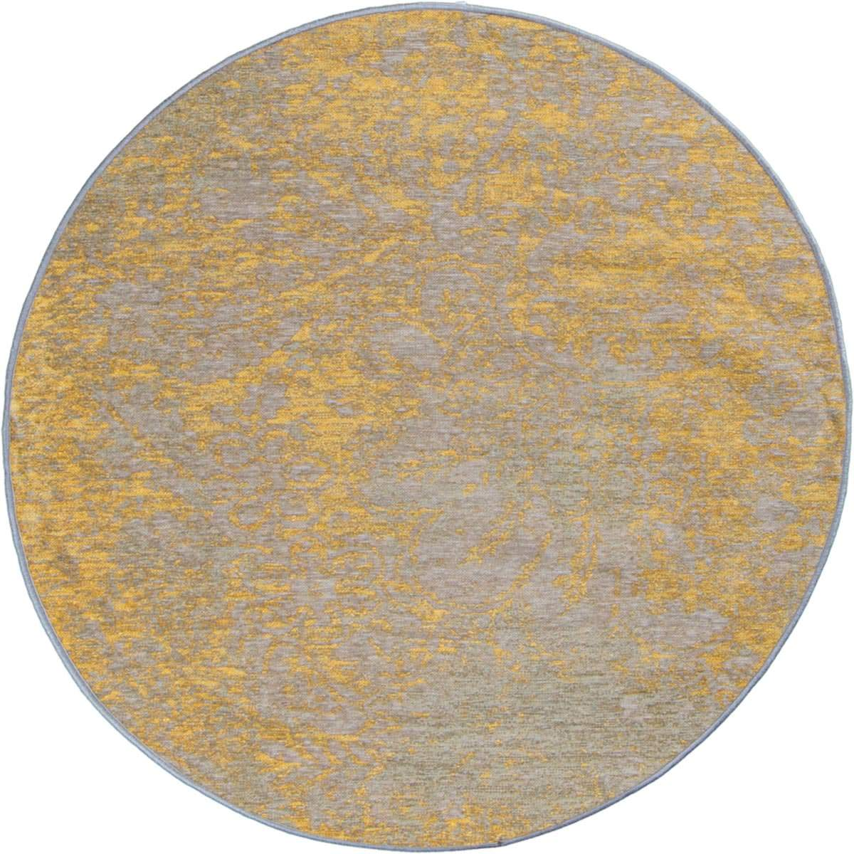 Marseille Rug 29 Yellow/Grey Round 1