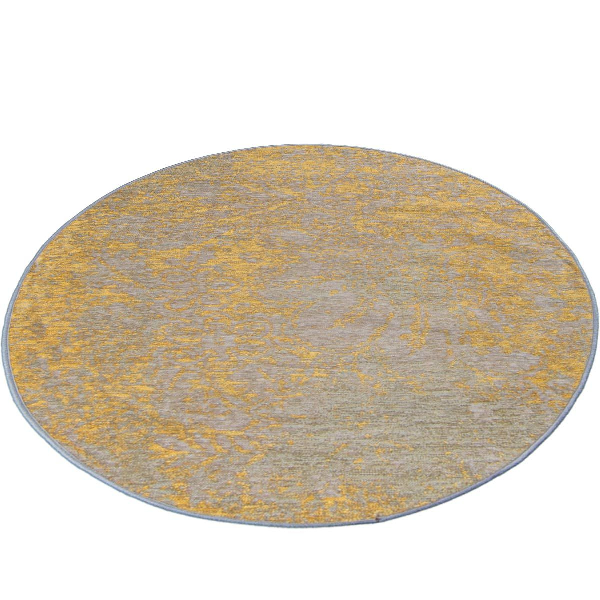 Marseille Rug 29 Yellow/Grey Round 2