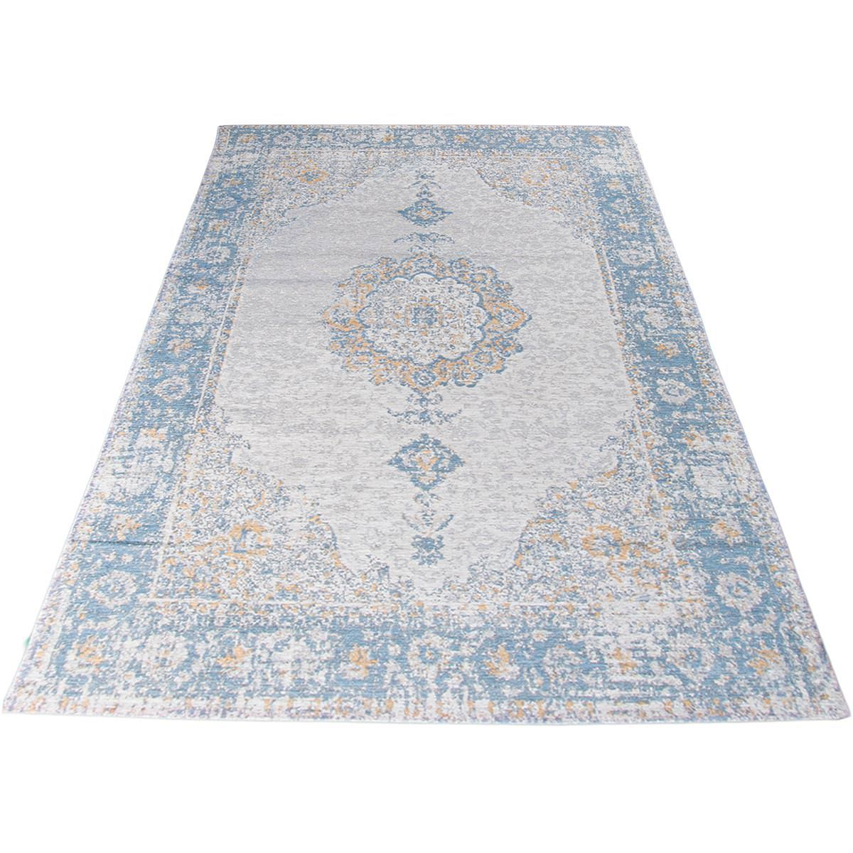 Marseille Rug 34 Blue/Beige/Yellow 2