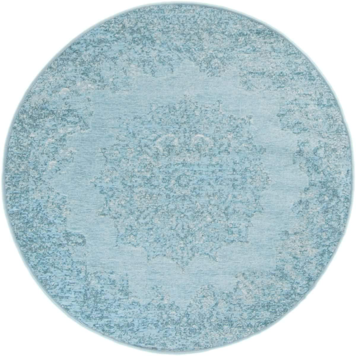 Marseille Rug 35 Light Blue Round 1
