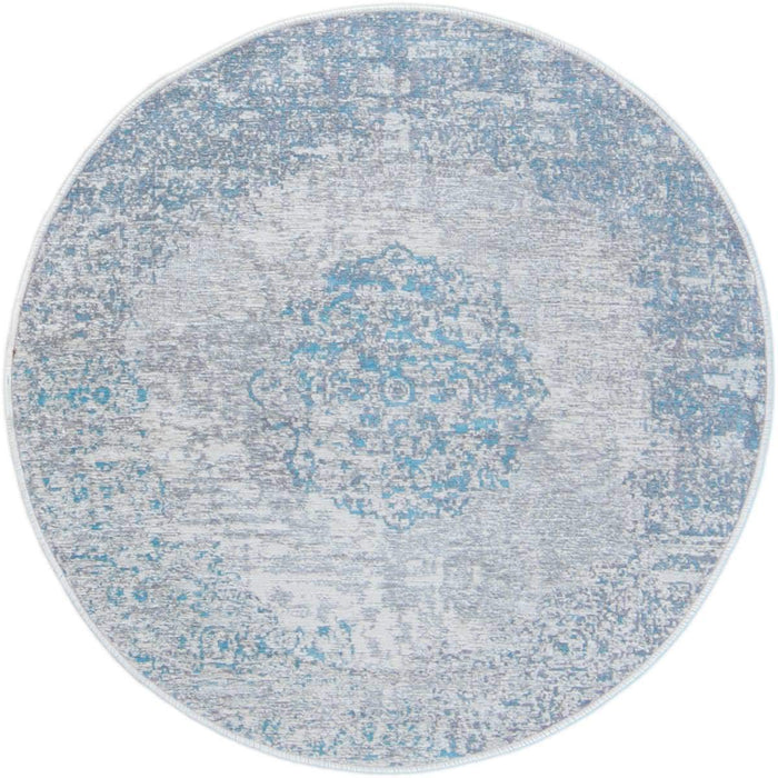 Marseille Rug 36 Light Blue Round