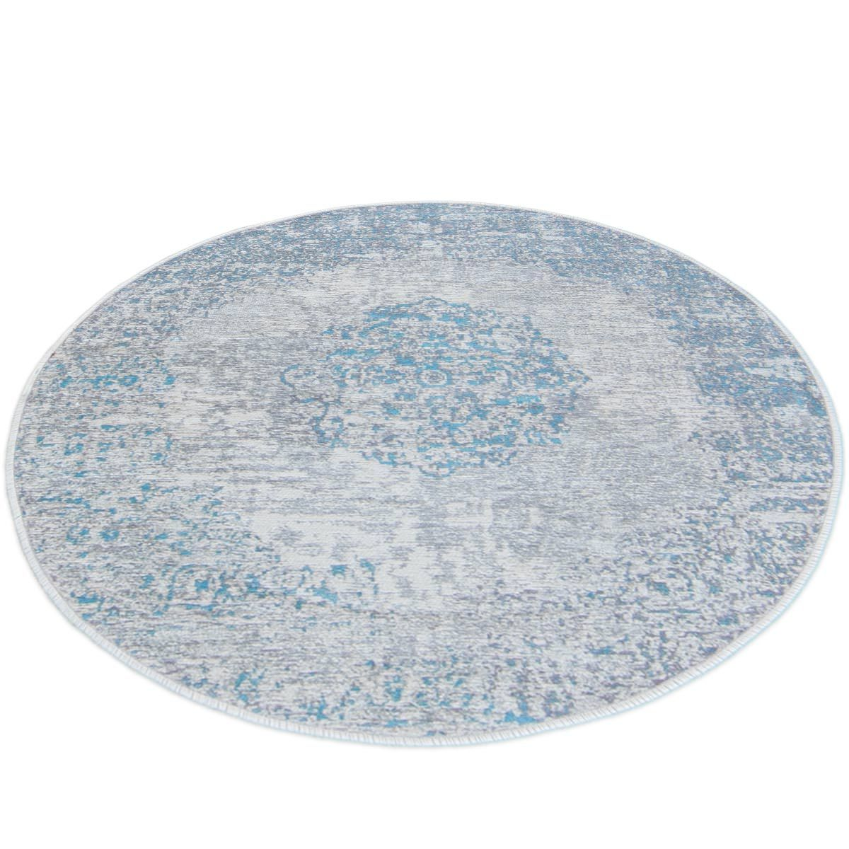 Marseille Rug 36 Light Blue Round 2
