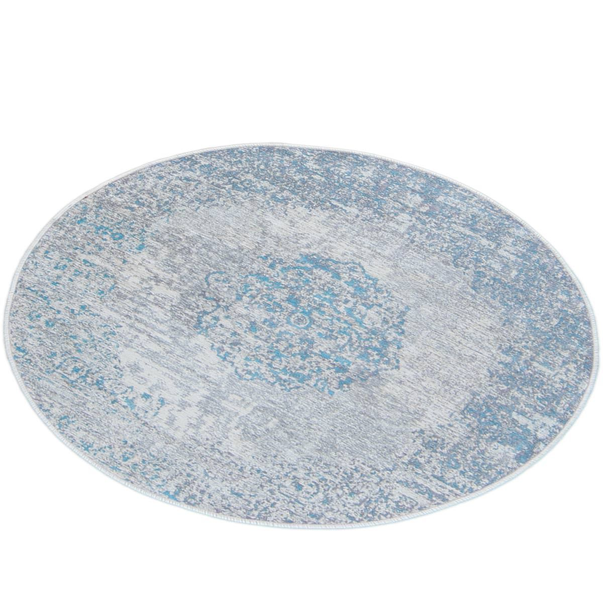 Marseille Rug 36 Light Blue Round 3