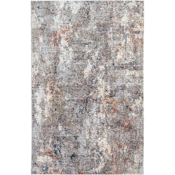 Miami Rug 05 Grey/Red/Yellow