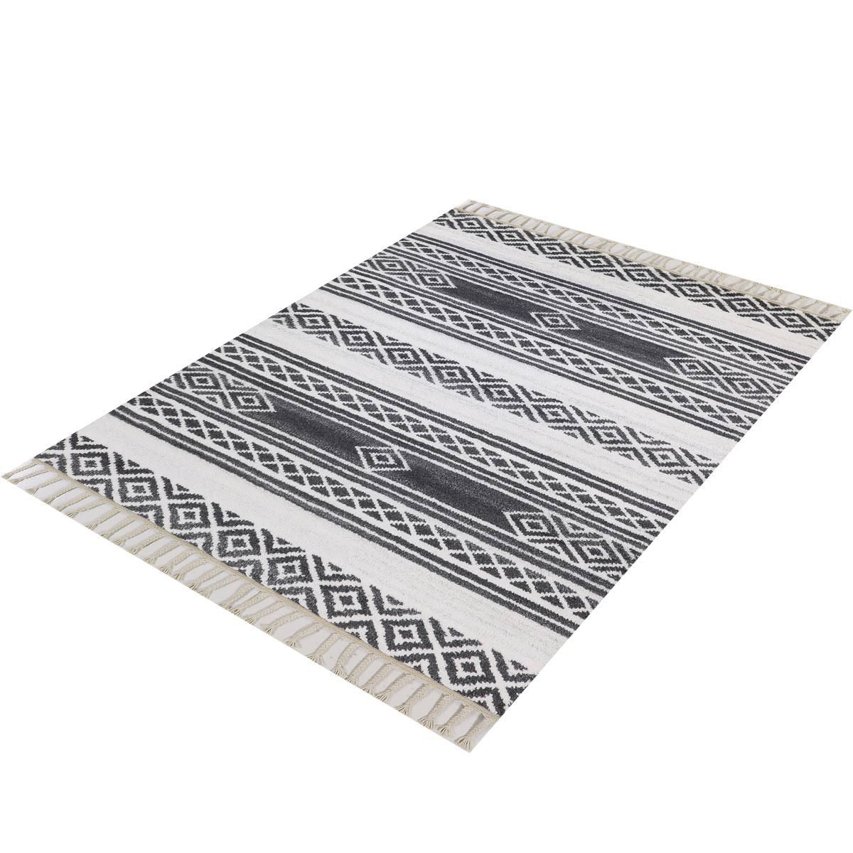 Moroccan Berber Rug 04 Dark Grey/White 3