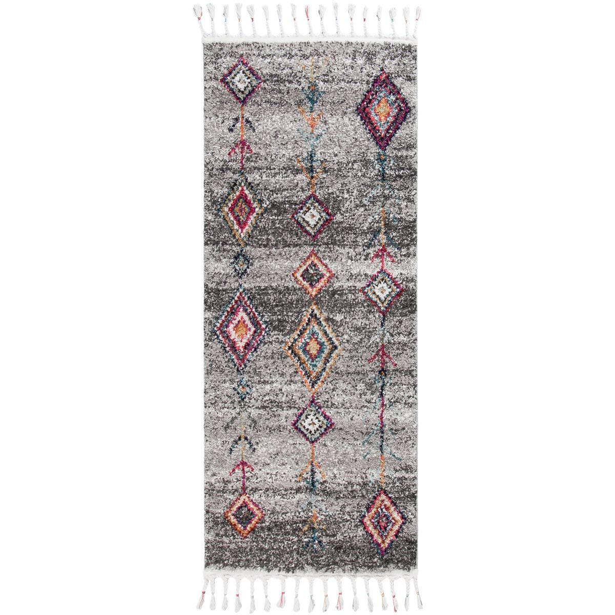 Mykonos Rug 01 Grey Runner 1