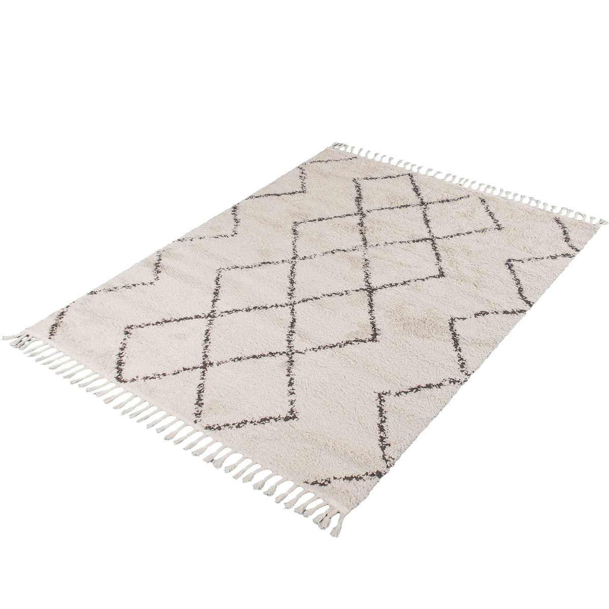 Shaggy Marrakech Rug 03 Cream/Black 9