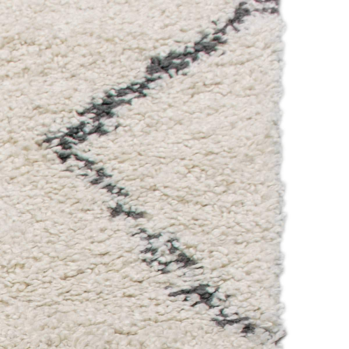 Shaggy Marrakech Rug 03 Cream/Black Runner 5