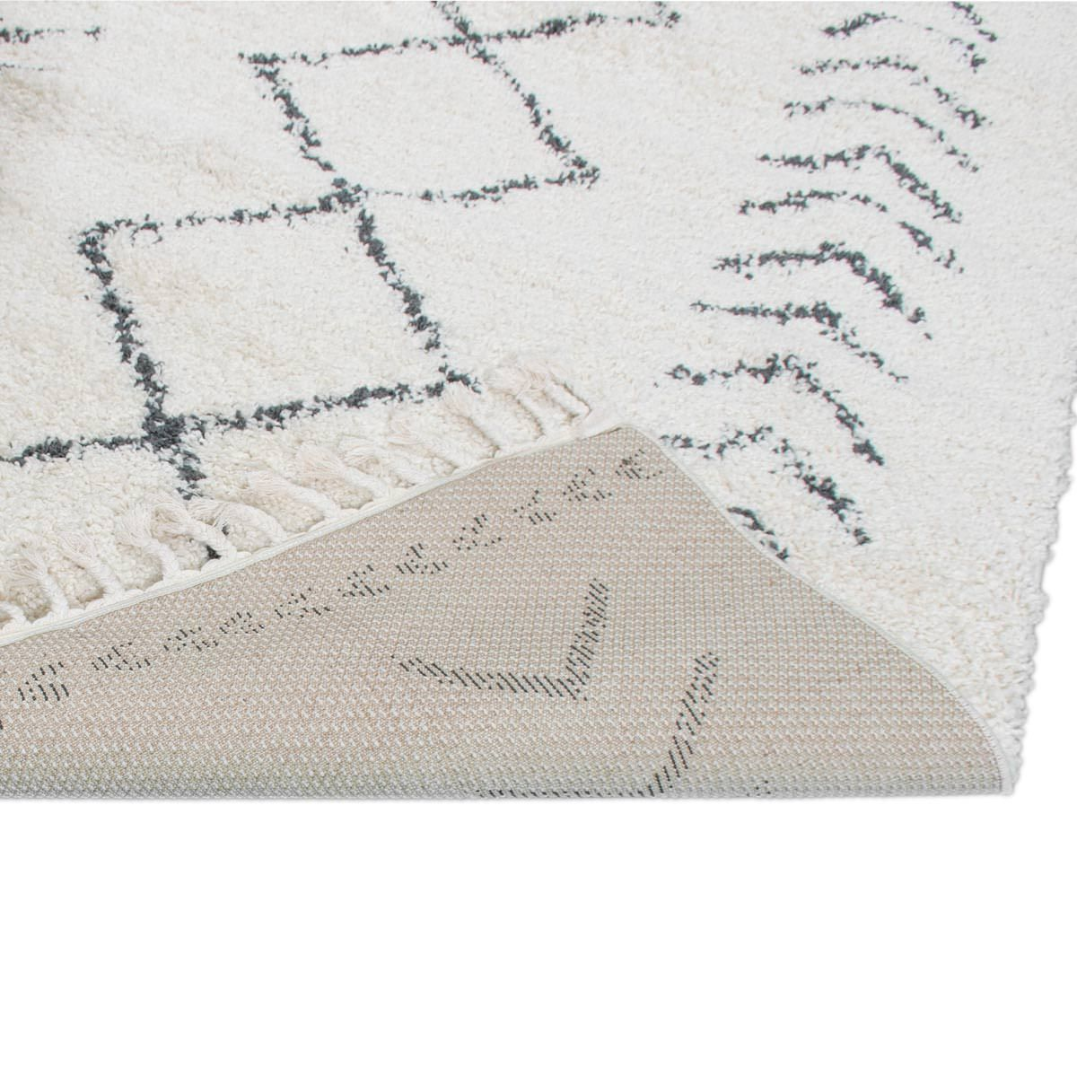 Shaggy Marrakech Rug 04 Cream/Black Runner 2