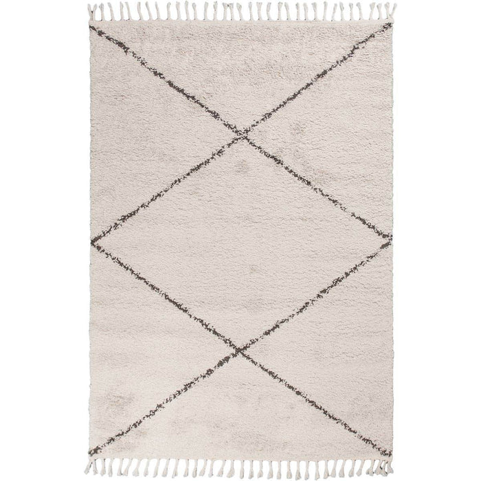 Shaggy Marrakech Rug 05 Cream/Black