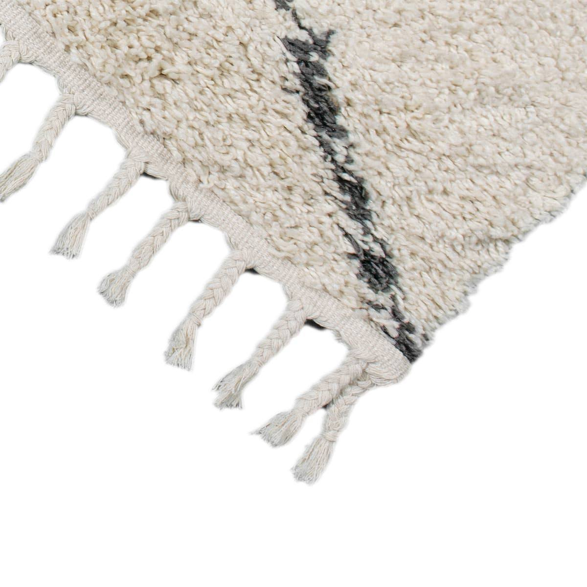 Shaggy Marrakech Rug 05 Cream/Black 4