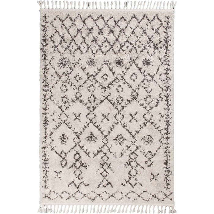 Shaggy Marrakech Rug 06 Cream/Black