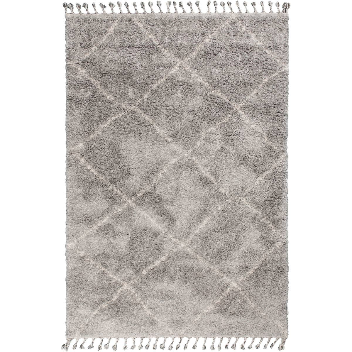 Shaggy Marrakech Rug 07 Grey/Cream 1