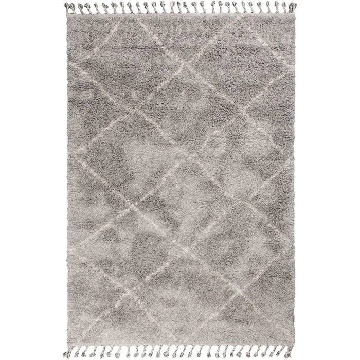 Shaggy Marrakech Rug 07 Grey/Cream