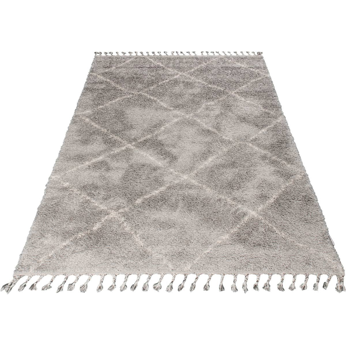 Shaggy Marrakech Rug 07 Grey/Cream 7