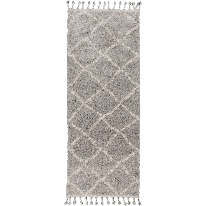 Shaggy Marrakech Rug 07 Grey/Cream Runner