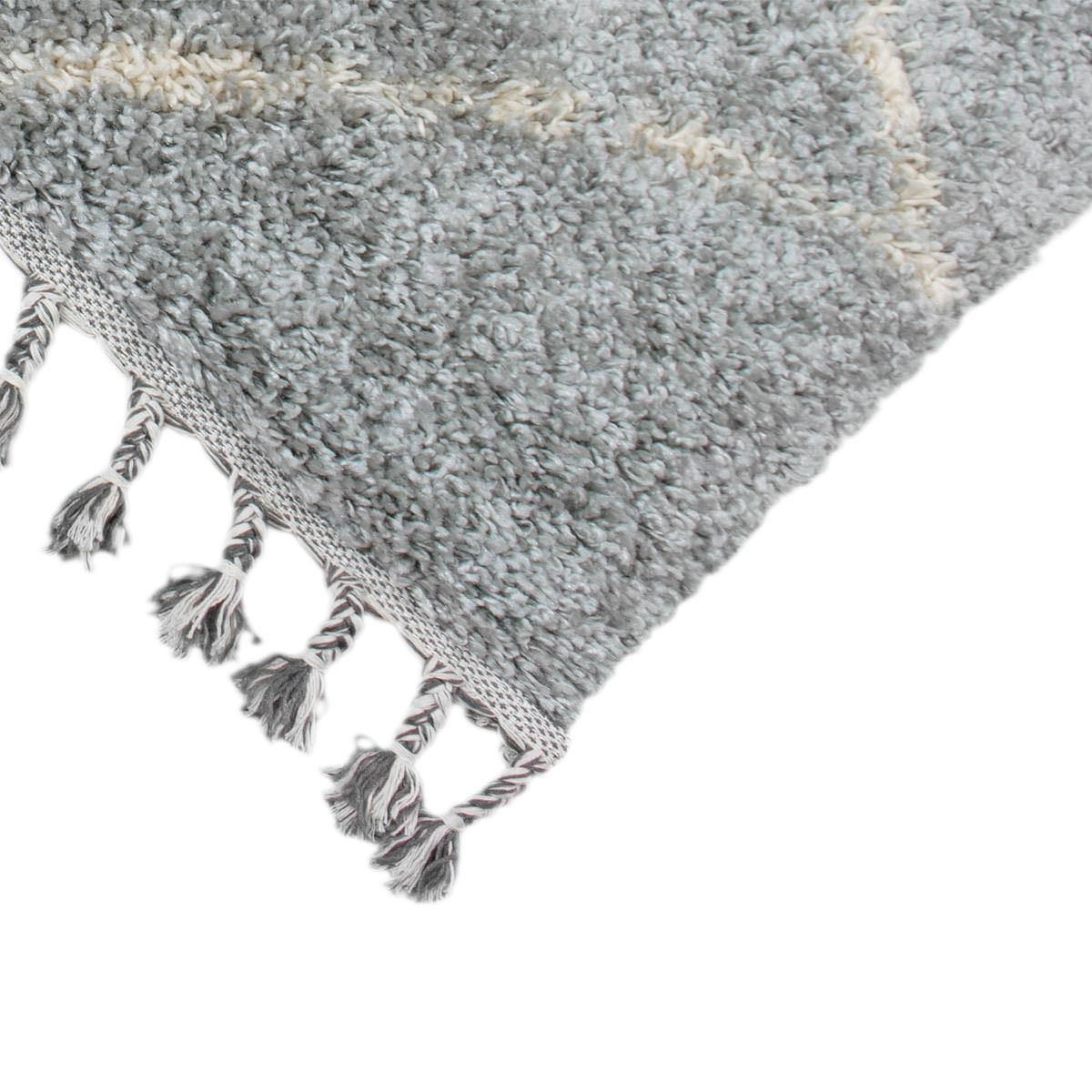 Shaggy Marrakech Rug 07 Grey/Cream Runner 2