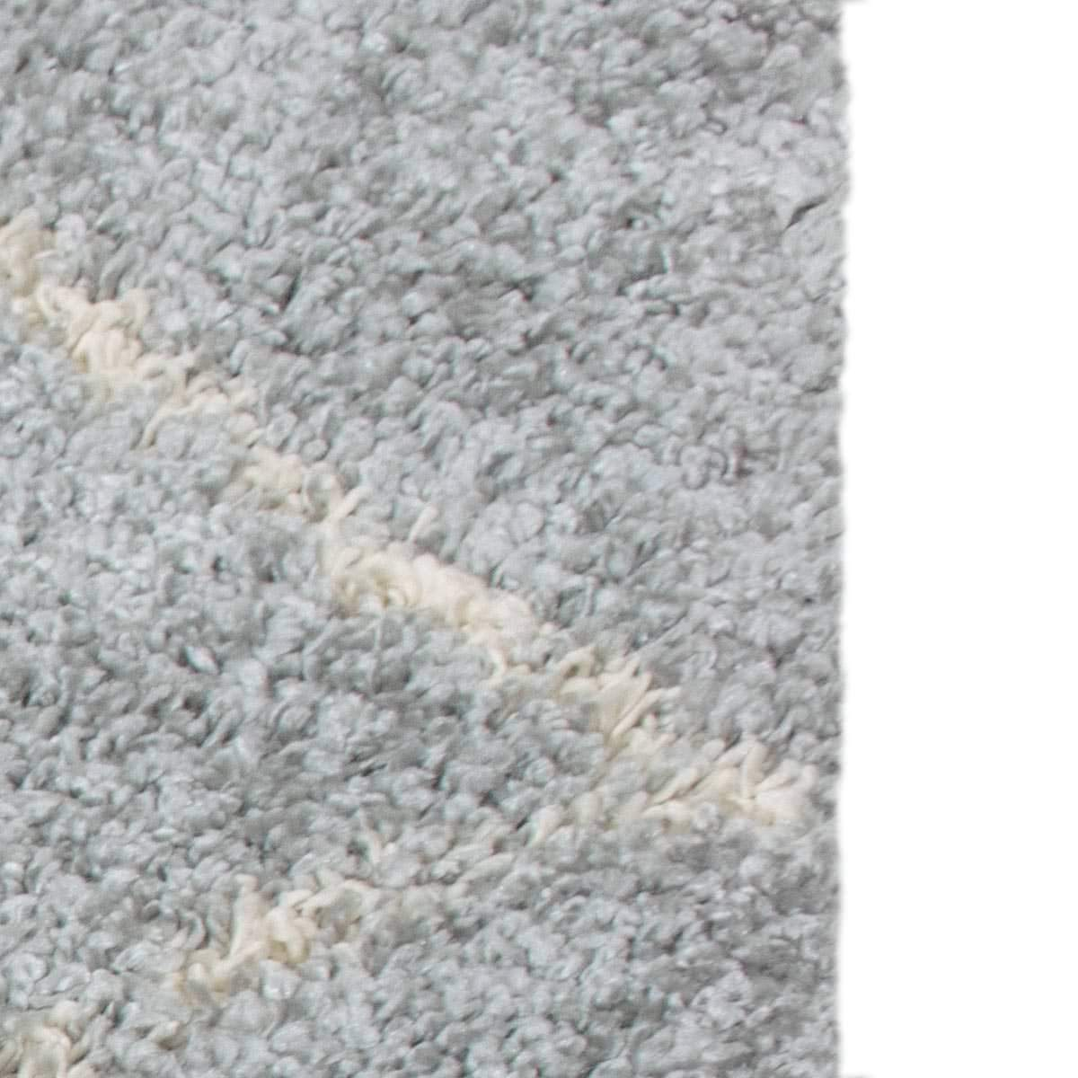 Shaggy Marrakech Rug 07 Grey/Cream Runner 4