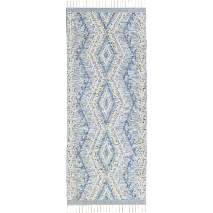 Tangier Rug 05 light blue Runner