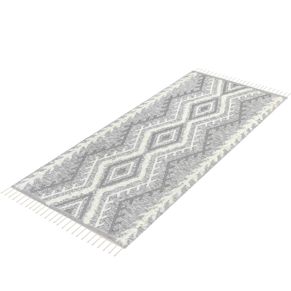 Tangier Rug 05 light grey Runner 8