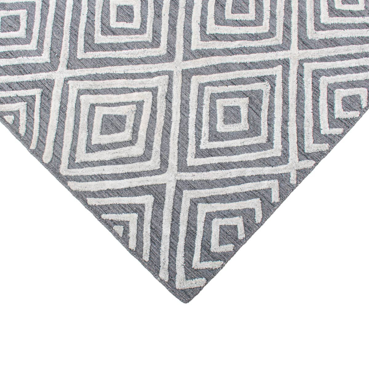 Zara Rug 01 Grey/White 3